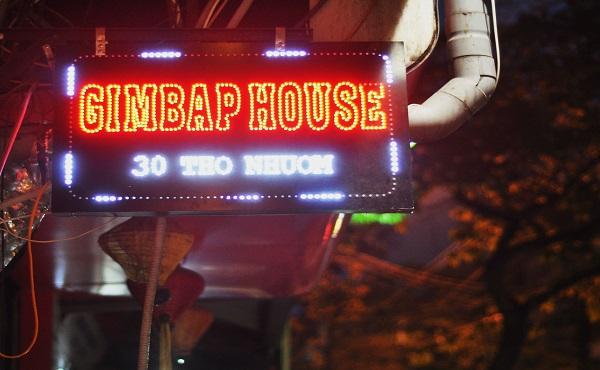 Gimbap house 30A Thợ Nhuộm