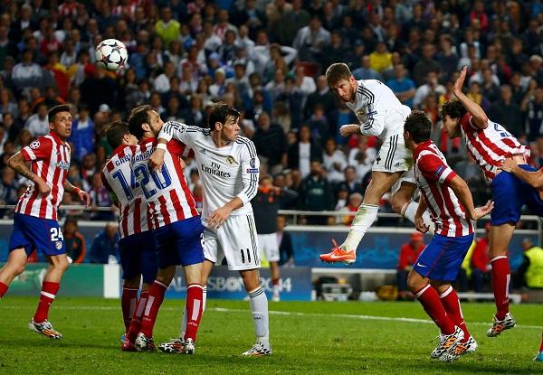 Cú đánh đầu định mệnh của Ramos khiến cầu thủ Atletico Madrid chết lặng